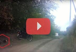 В Лидском районе пьяный мотоциклист так удирал от ГАИ, что потерял шлем