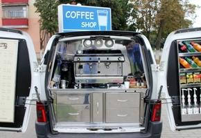 В Лиде начала работу мобильная кофейня