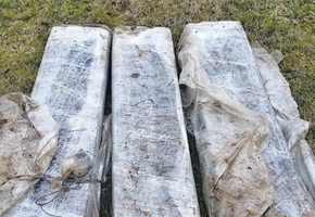 Ещё три контрабандные «льдины» из сигарет в притоке Немана выявили литовские пограничники