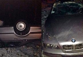 На трассе М6 напротив Лиды случилась еще одна авария с вылетом. Пострадавшие отмечают плохое состояние трассы.
