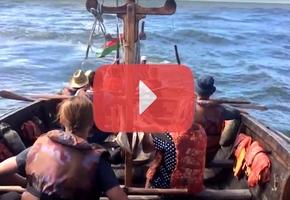 В сети появилось видео путешествия на средневековой ладье «Ятвяг» по Неману из Гродно до Балтийского моря