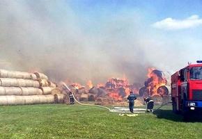 «Совхоз Лидский» потерпел убытки — сгорело 20 тонн соломы