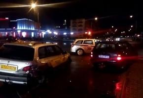 На перекрёстке возле «Дома торговли» пьяный лидчанин въехал в автомобиль такси