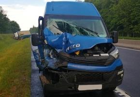 На М6 Iveco столкнулся с МАЗ. Предварительно: водитель микроавтобуса находился в утомлённом состоянии