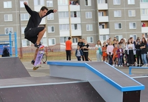 В Лиде по ул. Тухачевского открылся скейт-парк