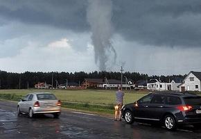 В Лиде наблюдали «почти торнадо»
