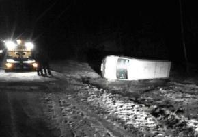 3 пассажира пострадали при  опрокидывании в Лидском районе маршрутки «Минск — Гродно»