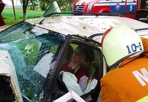В Лидском районе парень на Peugeot 406 въехал в дерево