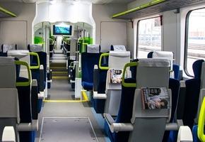В новом дизель-поезде бизнес-класса «Лида — Минск» появился бесплатный Wi-Fi