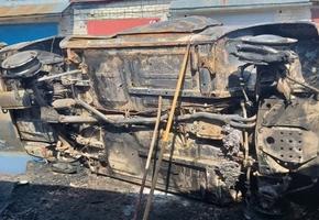 В Лиде в гаражном кооперативе сгорел автомобиль