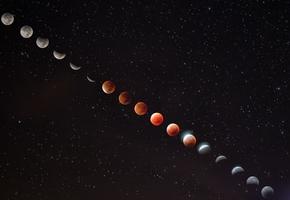 Сегодня лидчане смогут наблюдать частичное лунное затмение