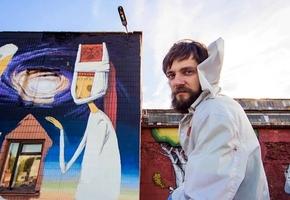 Лидский художник Cowek завершил совместную работу в Минске на фестивале Vulica Brasil (фото)