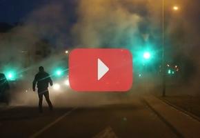 В центре Лиды на дороге загорелся VW Passat