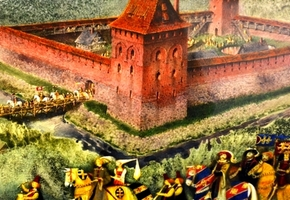 Художник Павел Татарников представил панораму Лидского замка