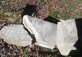 В Лиде вандалы разрушили более 30 старинных могил, которые восстанавливали два года