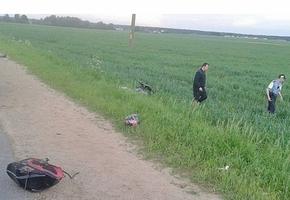 Под Лидой мотоциклист на Suzuki вылетел в кювет. С переломами ушибами и травмами его госпитализировали