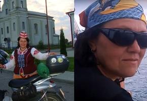 На скутере по Беларуси. Жительница Лиды сделала более 200 фото на фоне исторических достопримечательностей