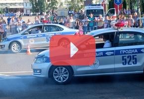 Госавтоинспекторы Гродненской области показали мастер-класс по управлению Volkswagen Polo