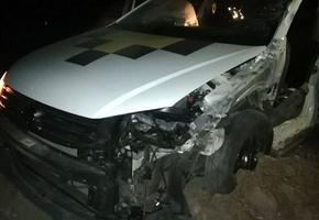 На М6 водитель такси вёз пассажира из Лиды в Мосты, уснул и врезался в фуру