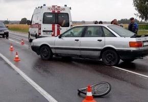 В Лидском районе под колеса Audi попала велосипедистка