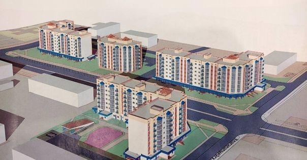 В Лидском исполкоме рассматривают план постройки 4-ёх многоэтажек в районе улиц Красноармейской-Котляревского