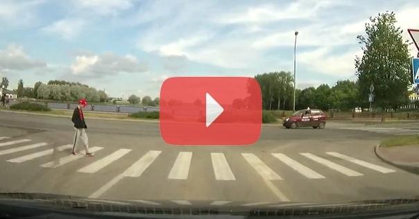 Лидчанин заснял на видео не очень расторопного пешехода